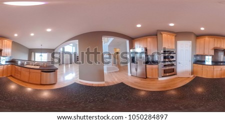 Interior of typical North American suburban house. #1050284897