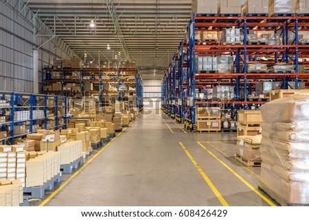 interior of warehouse #608426429