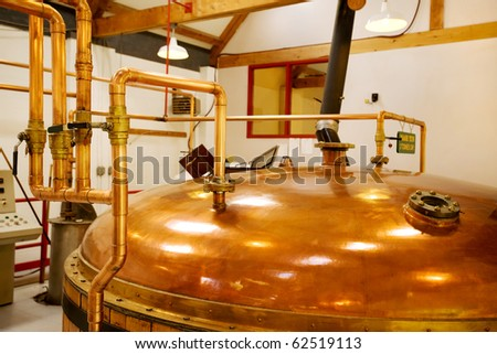 interior of whisky distillery, Cape Breton, Nova Scotia