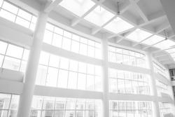 interior of white office