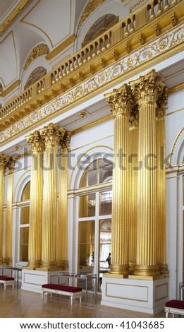 Interior of Winter Palace at St. Petersburg, Russia