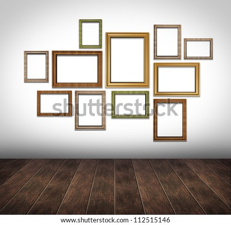 Photo frame wall layout