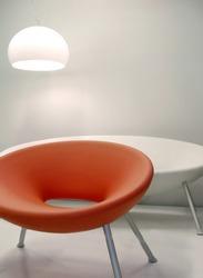 Interior retro design chairs with lamp