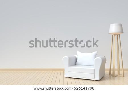 interior room has a  white sofa ...