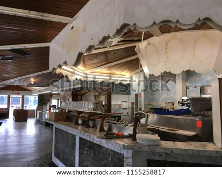 Interior shot of a closed down ice cream parlor in Madison Wisconsin #1155258817