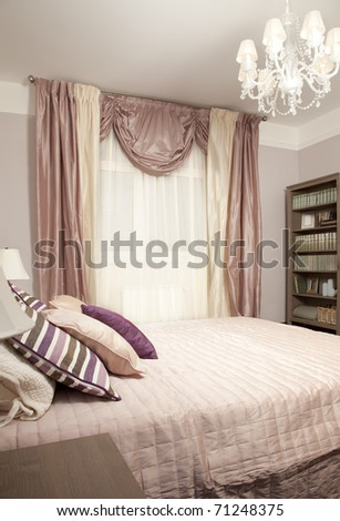 Interior shot of a modern bedroom