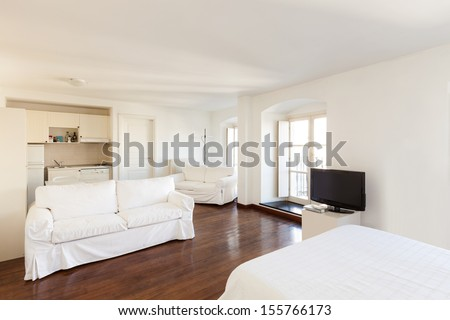 Interior, small apartment, room view