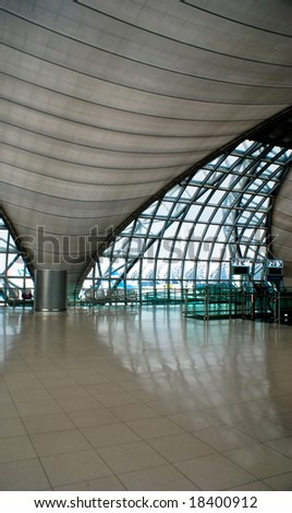 Interior structure design of Bangkok international airport