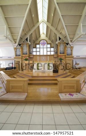 Interior view of a modern church