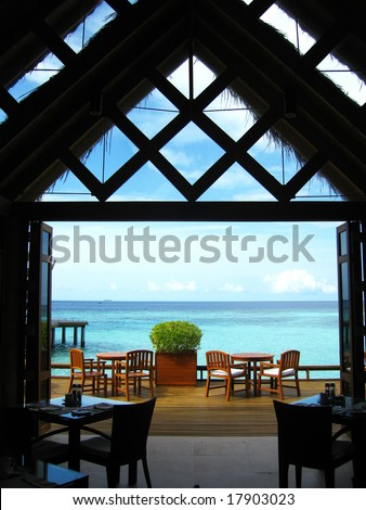Interior View of A Sea View Restaurant