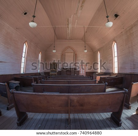 interior view of an abandoned...