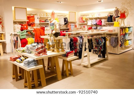 interior view of children\'s clothing store