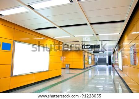 Interior View of City Subway,Guangzhou China