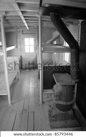 Railroad Caboose Interior http://www.shutterstock.com/pic-85793446/stock-photo-interior-view-of-santa-fe-railroad-caboose.html