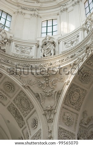 Interior View of Stucco Decoration in High Baroque Style #99565070