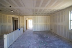Interior Walls Of New Home Under Construction