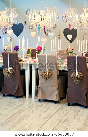 interior with heart decoration