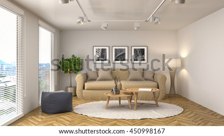 interior with sofa. 3d illustration #450998167