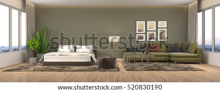interior with sofa. 3d illustration. #520830190