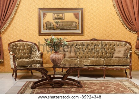 interior with vintage furniture. see more on my page