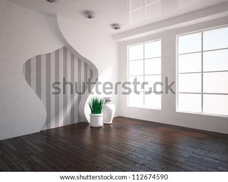 interior with wooden floor