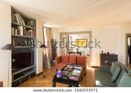Interiors of modern apartment, nobody inside #1060593971