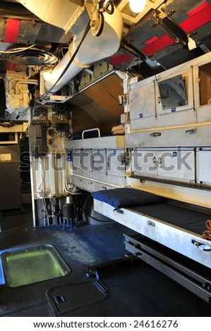 Interiors of Toti Italian Submarine