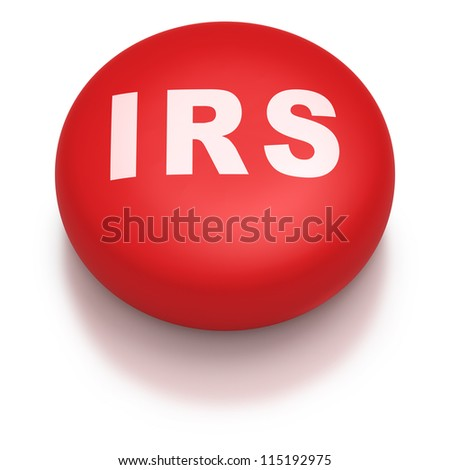 Internal revenue service IRS as a red pill on a white background