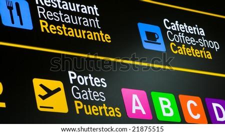 International Airport Sign