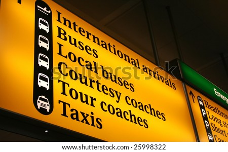 International Airport Sign in Europe