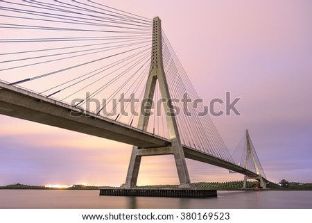International Bridge, linking Portugal and Spain over the Guadiana river. Link Ayamonte and Villa Real Santo Antonio #380169523