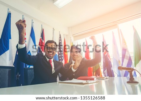 International cooperation, International contract signing #1355126588