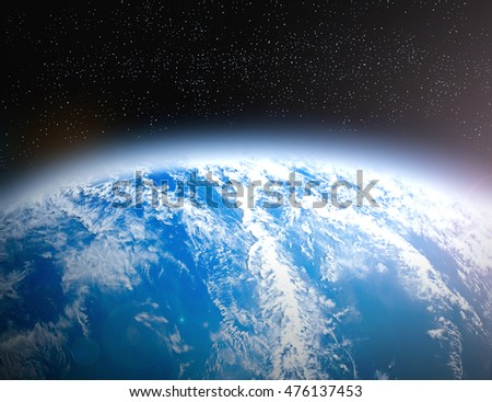 International Day for the Preservation of the Ozone Layer concept. Elements of this image furnished by NASA. #476137453