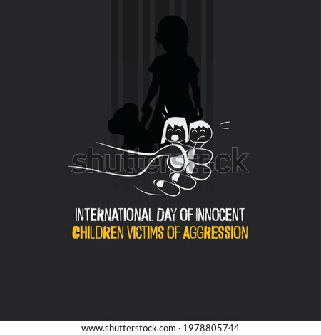 International Day of Innocent Children Victims of Aggression. flyer, banner Stock photo ©