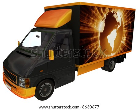 International delivery van.