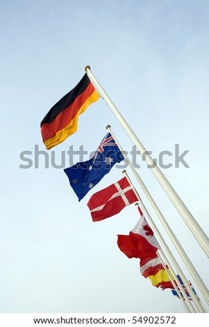 international flags on THE POLES