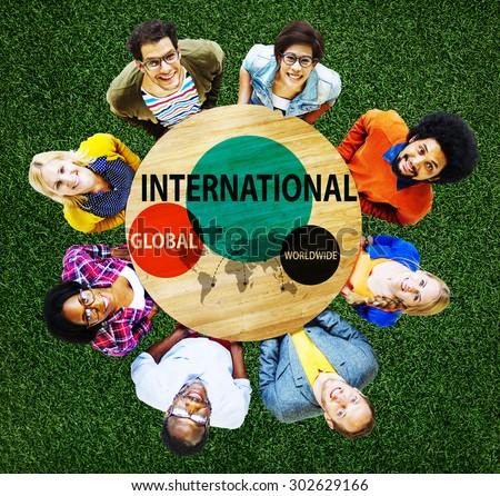 International Global Community Worldwide Trading Concept