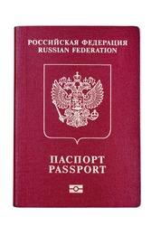 International passport for Russian citizens. Isolated