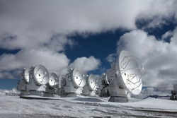 International Radio Telescope Observatory in the North Chilean Andes (ALMA)