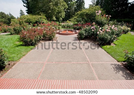International Rose Test Garden is a rose garden in Washington Park in Portland, Oregon, United States. There are over 7,000 rose plants of approximately 550 varieties.