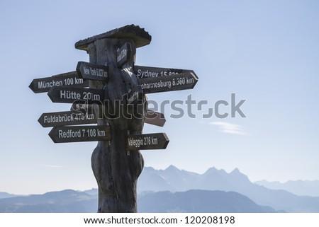 International signposts for globetrotters