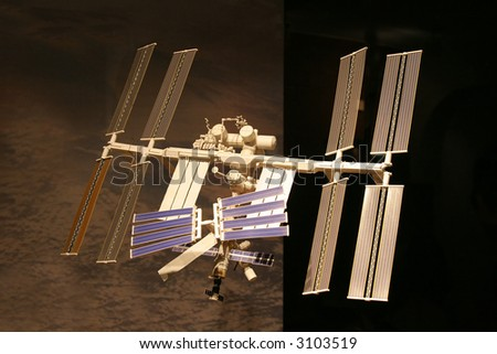 International Space Station, photo of the accurate model