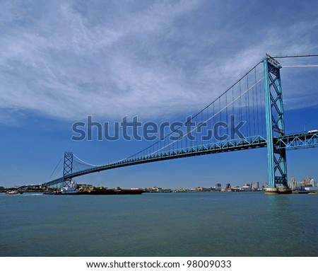 International Suspension Bridge in Windsor, Ontario
