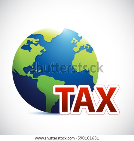 International tax sign concept illustration design isolated over white