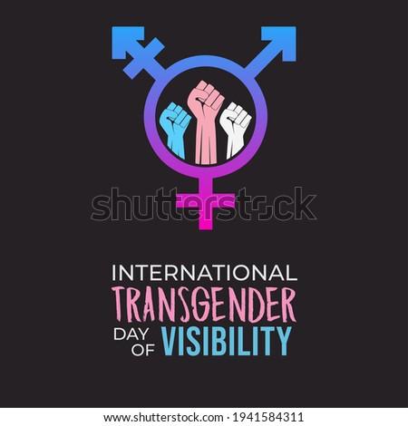 International Transgender Day of Visibility Foto stock ©
