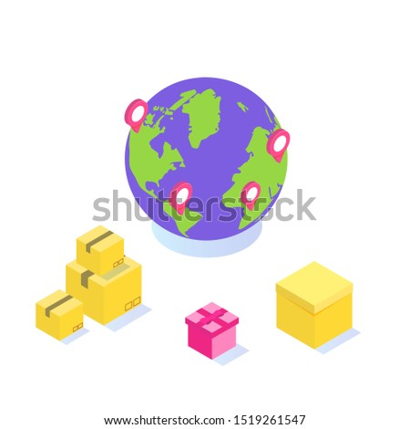 International Worldwide delivery, Global logistic, freight shipp