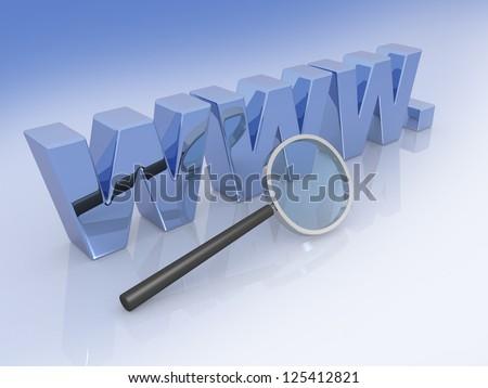 internet analysis, web analytics - 3d illustration