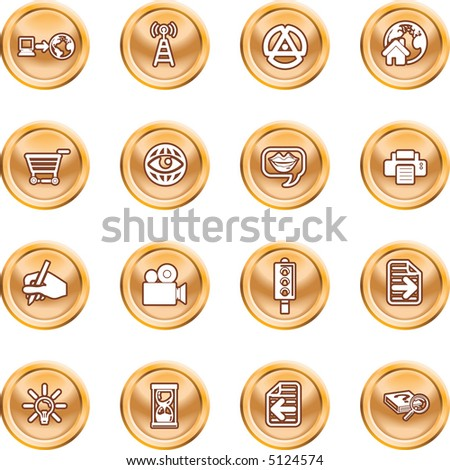 Internet And Computing Media Icons A set of internet and computing media icons. Raster version