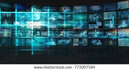 Internet Background with Code and Technology World