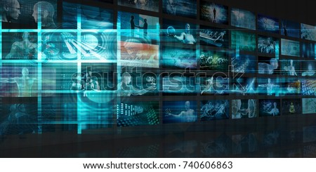 Internet Background with Code and Technology World 3D Illustration Render